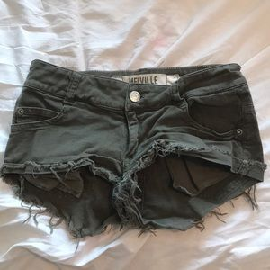 Green shorts from brandy Melville